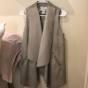 Leather/suede gray vest